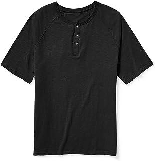 Amazon Essentials Men's Big & Tall Short-Sleeve Slub Henley T-Shirt fit by DXL