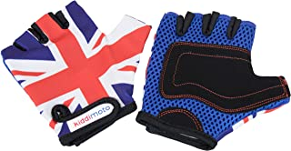 Kids Toddler Fingerless Gloves for Balance/Pedal Bikes and Scooters (Union Jack)