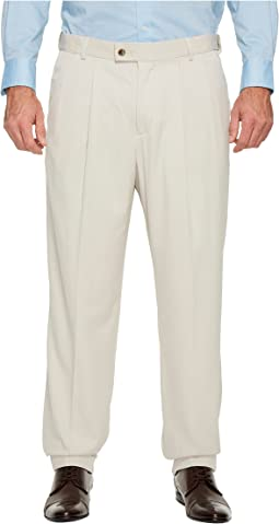 Perry Ellis Portfolio - Big and Tall Double Pleat Melange Portfolio Dress Pants