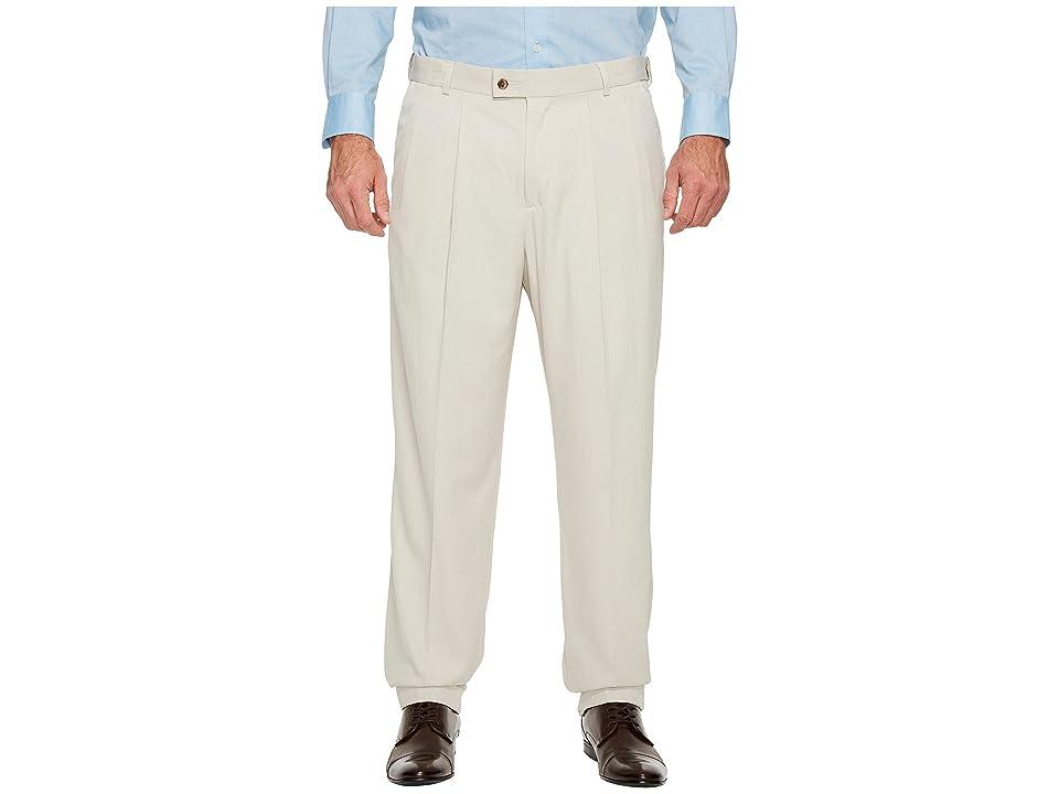 Perry Ellis Portfolio - Perry Ellis Portfolio Big and Tall Double Pleat Melange Portfolio Dress Pants