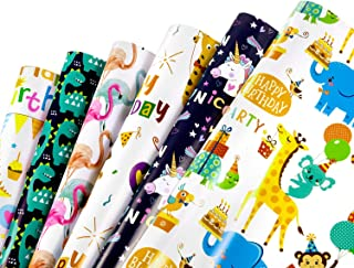 WolinTek Papier Cadeau pour Enfants, Feuilles De Papier d'emballage Cadeau pour Anniversaire, Vacances, Mariage, Cadeau de...