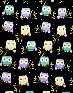 Owl Throw Blanket, Adorable Super-Soft Extra-Large Fluffy Owl Blanket for Adults, Kids, and Girls, Fleece Owl Blanket (50in x 60in) Warm, Cozy, and Plush Throw for Bed, Couch, and Sofa