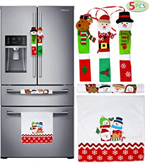 JOYIN 5 Pieces Christmas Kitchen Appliance Handle Covers for Kitchen Refrigerator Microwave Oven Dishwasher Decoration, Xm...