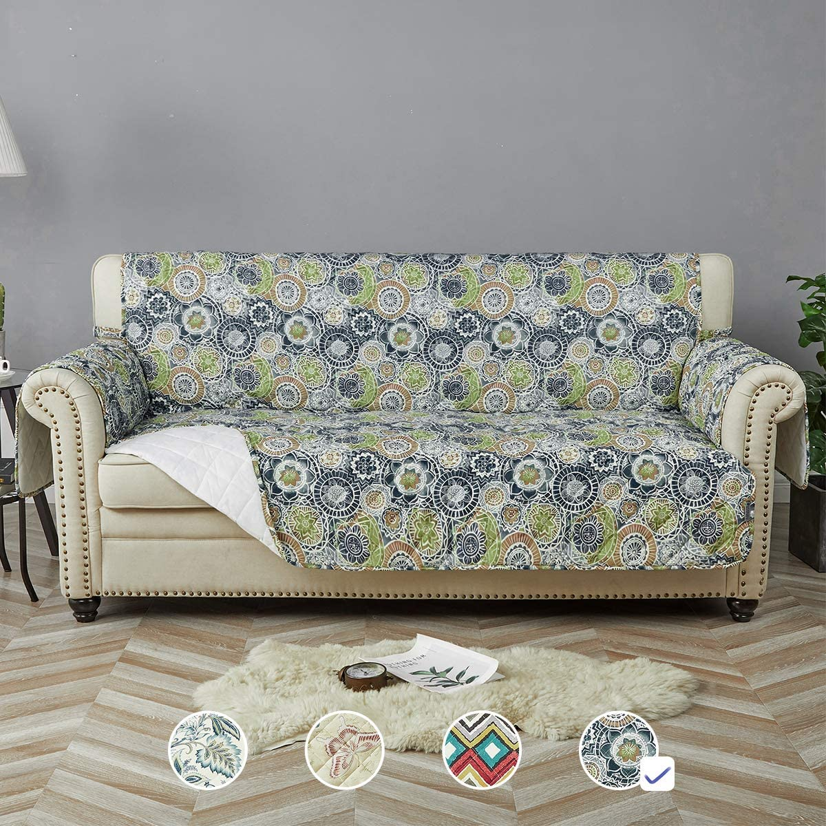 STONECREST Sofa mart Cover Water Slipcover Print Sale SALE% OFF Was Resistant
