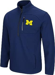 Colosseum Men's NCAA-Townie-1/2 Zip-Corded-Fleece Pullover Jacket