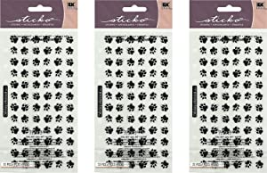PAWS STICKERS (72 PEICES) BY STICKO (3 Pack)