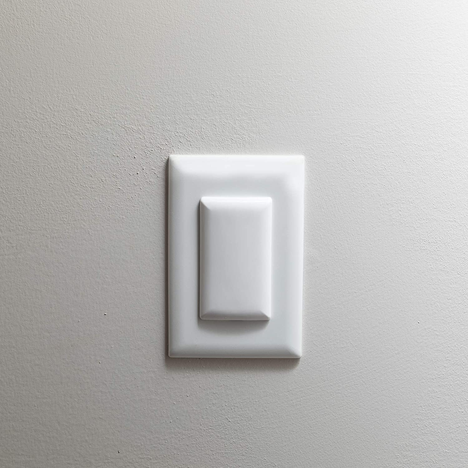 Qdos StayPut Double Outlet Plug Cover - One Plug Covers both Outlets! - Secure Fit and Beveled Edges Prevent Small Fingers from Removing Unlike Inferior Products  Fits All Outlets   6 pack   White