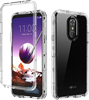 BENTOBEN LG Stylo 4 Phone Case, LG Stylo 4 Plus Case, LG Q Stylus Case, Transparent Clear Heavy Duty Full Body Shockproof 3 in 1 Hard PC Soft TPU Scratch Resistance Protective Phone Cover, Clear