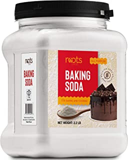 Roots Circle Baking Soda | Bulk Pack 1 [35.2oz] Airtight Container | Gluten-Free All-Purpose Sodium Bicarbonate for Cookin...