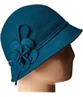 SCALA - Wool Felt Cloche w/ Flowers