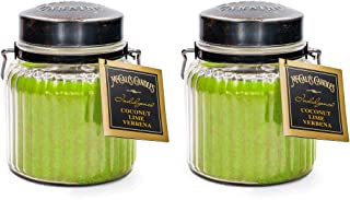McCalls Candles Coconut Lime Verbena Indulgence 2-Pack   18 oz. Glass Jar Scented Candles   Summer Scents Double-Wick Cand...