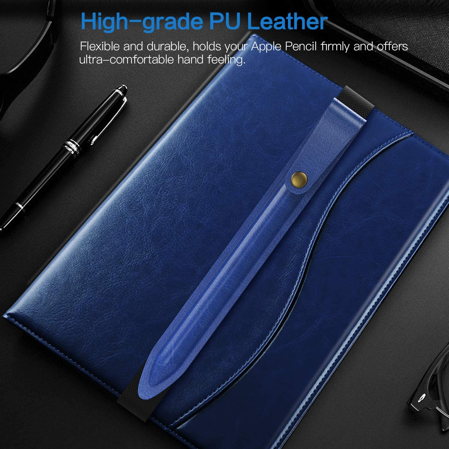 Indigo TiMOVO Cover Compatible for Pencil Gen 2 Holder Case Pencil Pocket PU Leather Case Pouch with Elastic Band Pencil Sleeve Fit iPad Pro 11 2018//2020 iPad Pro 12.9 2018//2020