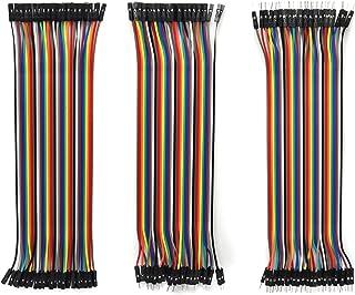 Gikfun 120pcs 40Pin Multicolored Dupont Wires 20cm Male to Male, Male to Female, Female to Female Breadboard Jumper Ribbon...