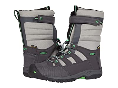 KEEN Kids Winterport Neo WP (Little Kid/Big Kid) (Magnet/Irish Green) Boys Shoes
