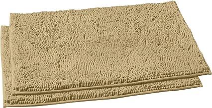 LuxUrux Bathroom Rugs Set–Extra-Soft Plush Bath mat Shower Bathroom Rug,1'' Chenille Microfiber Material, Super Absorbent....