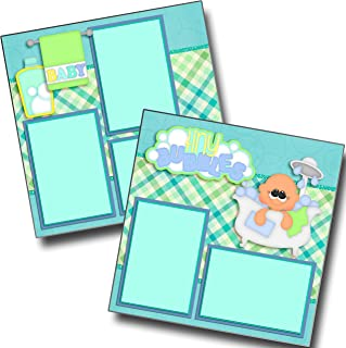 Tiny Bubbles Boy - Baby - Premade Scrapbook Pages - EZ Layout 4188
