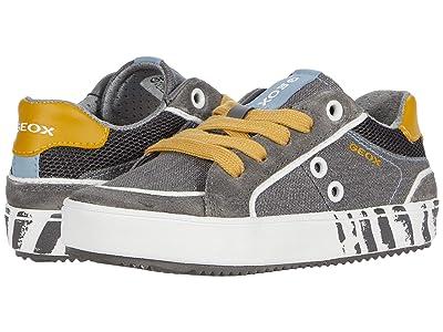 Geox Kids Alonisso 46 (Little Kid) (Grey/Yellow) Boy