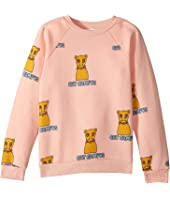 mini rodini - Cat Campus Sweatshirt (Infant/Toddler/Little Kids/Big Kids)