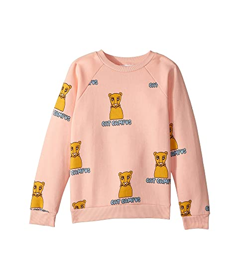 mini rodini Cat Campus Sweatshirt (Infant/Toddler/Little Kids/Big Kids)