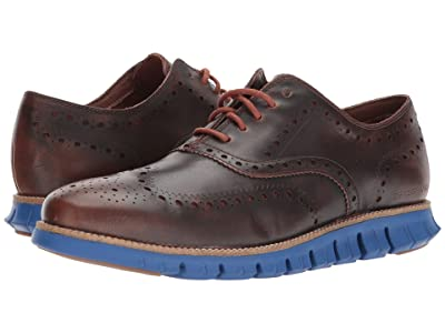 Cole Haan ZeroGrand Wing Ox Leather (Woodbury/Limoges Blue) Men