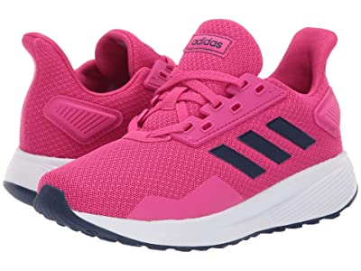 adidas Kids Duramo 9 (Little Kid/Big Kid) (Real Magenta/Dark Blue/Footwear White) Girl