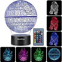 3D Illusion Star Wars Night Light, Three Pattern and 7 Color Change Decor