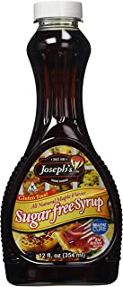 Josephs, Syrup Maple Sugar Free Gluten Free, 12 Fl Oz