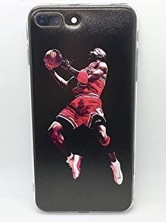 Basketball NBA Pros iPhone Case -Color Image, TPU Silicone, Slim, Protective Case (Jordan-Red/Black, iPhone XR)