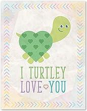 Children Inspire Design I Turtley Love You, Turtle Decor, Love Quote Print, 08x10 Inch Print Art Wall, Nursery Decor, Turt...