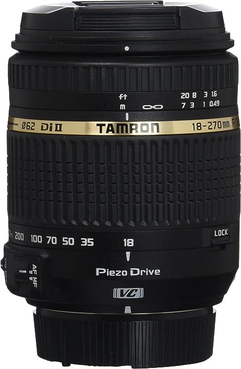 Obiettivo ultra-zoom per aps-c nikon tamron af 18 - 270mm f/3.5 - 6.3 di ii vc pzd B008N
