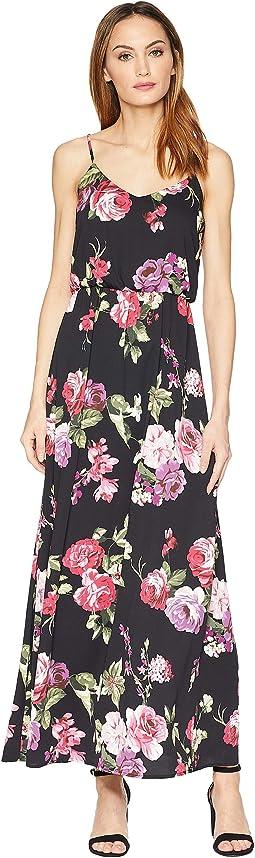 Darby Spaghetti Strap Floral Maxi Dress