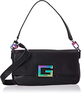 GUESS Men's Brightside Hobo Shoulder Bag, Color: Black