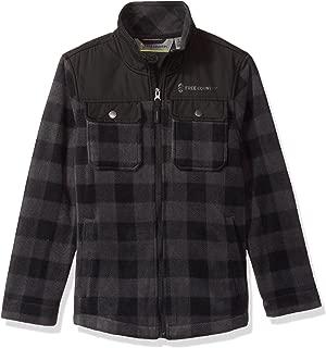 Big Boys Buffalo Plaid Fleece Shirt Jacket