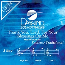 Thank You, Lord, For Your Blessings On Me Accompaniment/Performance Track