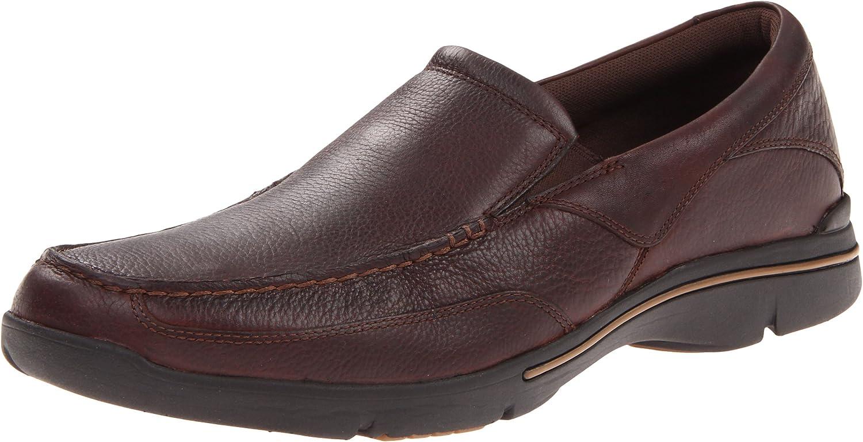 Rockport - Chaussures Eberdon pour Hommes, 46.5 EU, DK BRN Lea