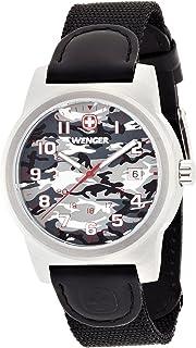 Wenger Field Classic Grey Dial Nylon Strap Men's Watch 01.0441.108