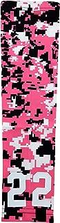 Sports Farm Custom Number Pink Black White Digital Camo Arm Sleeve