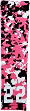 Sports Farm Custom Number Pink Black White Digital Camo Arm Sleeve