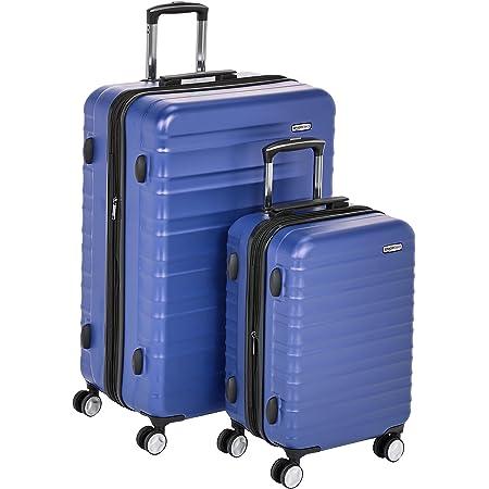 Amazon Basics Valise rigide à roulettes pivotantes de qualité supérieure avec serrure TSA intégrée - Lot de 2 pièces (55cm, 78 cm), Bleu