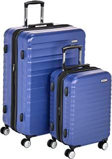 "AmazonBasics Premium Hardside Spinner Luggage with Built-In TSA Lock - 2-Piece Set (21"", 30""), Blue"