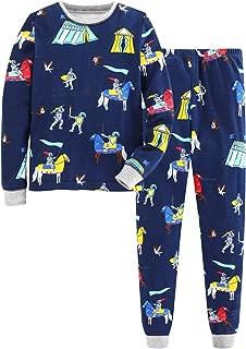 Boys Girls Pajamas Cotton Kids Pjs Cute Cartoon Striped Sleepwear