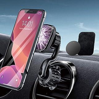 RTAKO Handyhalterung Auto Magnet Lüftung Handy Halterung für Auto Magnet KFZ Handyhalterung mit 6 Magnete handyhalter Auto 360°Drehbar Universal für Samsung und Smartphone GPS Gerät