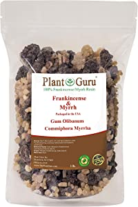Frankincense and Myrrh Resin 1lb 100% Pure Natural Olibanum and Commiphora Myrrha Rock Incense Gum Bulk