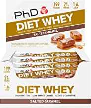 PhD Nutrition Diet Whey Bars Salted Caramel Pack of 12 Estimated Price : £ 17,95