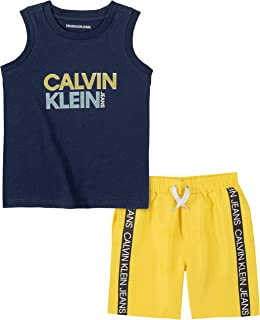 Calvin Klein Boys' 2 Pieces Muscle Shorts Set