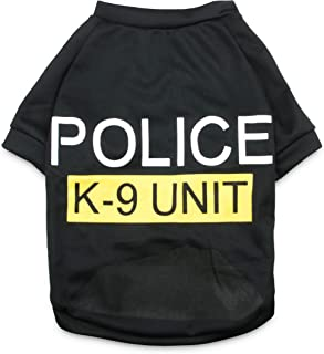 DroolingDog Dog Police Security Shirt Canine Clothes Pet Costume for Medium Big Dogs, XXXXL