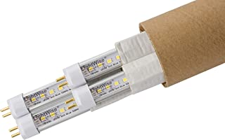 LightWise LWLF24T518W 4pack 18-Watt LED Grow Light Bulb Directly Replace Retrofit 24W F24T5HO Fluorescent Tube, White (4)