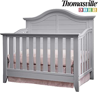 Thomasville Kids Southern Dunes Lifestyle 4-in-1 Convertible Crib, Pebble Gray, Easily Converts to Toddler Bed Day Bed or Full Bed, Three Position Adjustable Height Mattress (Mattress Not Included)