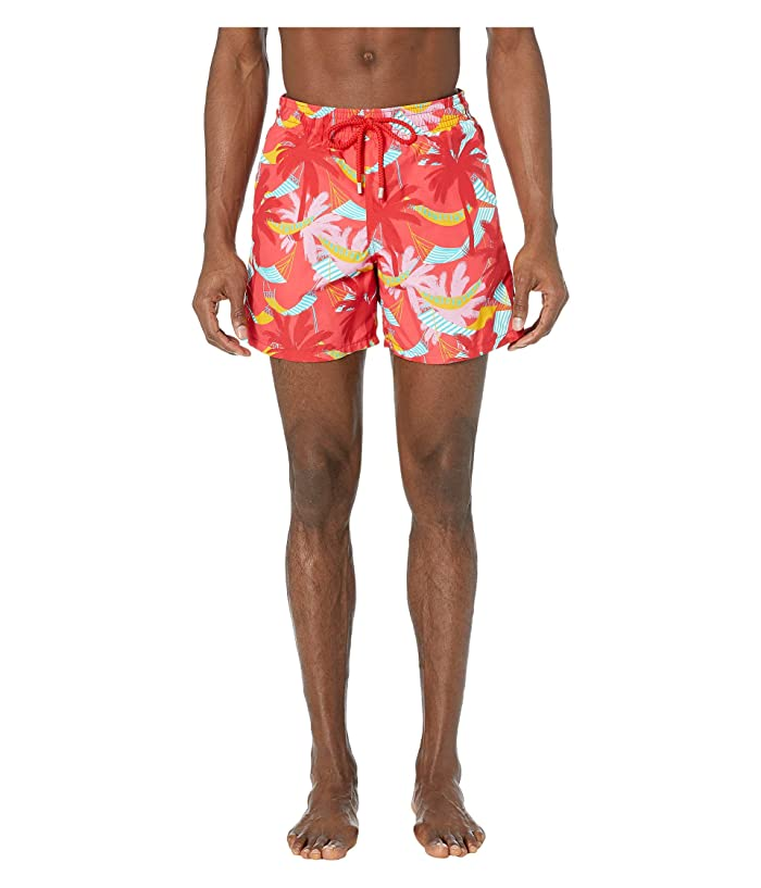 Vilebrequin Ibiza Moorea Swim Trunks (Hibiscus) Men