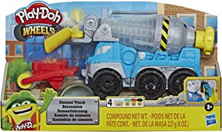 Hasbro E6891 Play-Doh Wheels- Cement Truck with 4 tubs of Non Toxic Dough inc Cement Compound- Sensory and Educational Cra...